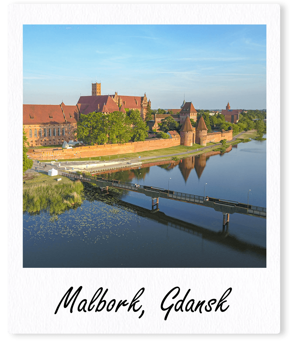 Malbork Gdansk Polaroid