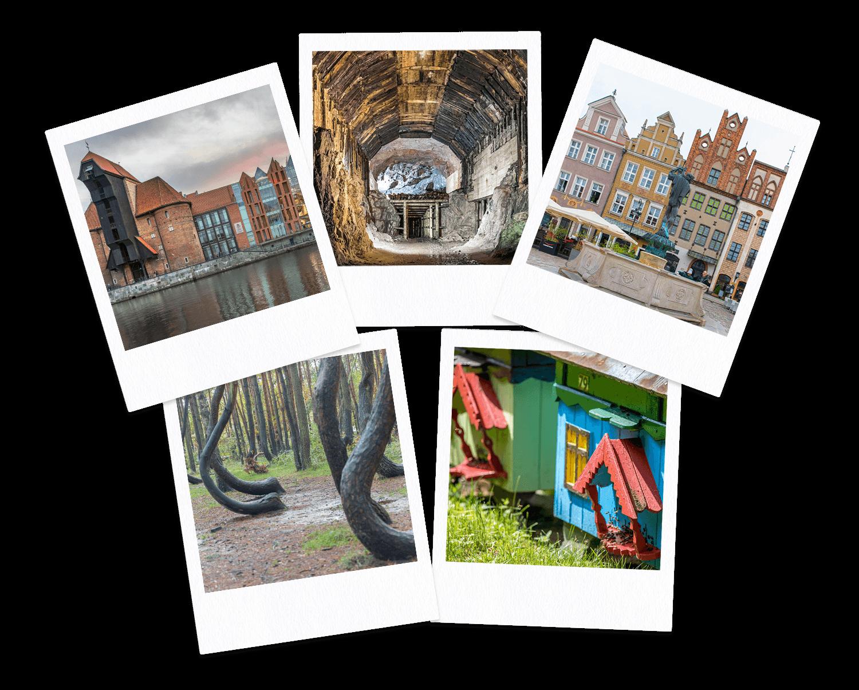 Poland Travel Collage polaroid